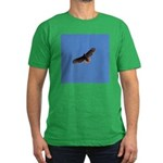 Red-Tailed Hawk Men's Fitted T-Shirt (dark)