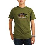 Rufous-sided Towhee Organic Men's T-Shirt (dark)
