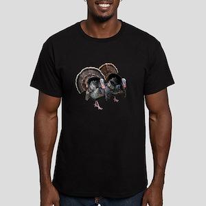 Wild Turkey Pair Men's Fitted T-Shirt (dark)
