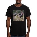 Three Tom Turkey Gobblers Men's Fitted T-Shirt (da