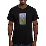 Great Egret Men's Fitted T-Shirt (dark)