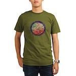 Robins with Berries Organic Men's T-Shirt (dark)