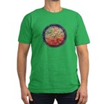 Robins with Berries Men's Fitted T-Shirt (dark)