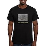 Wild Turkey Track Men's Fitted T-Shirt (dark)