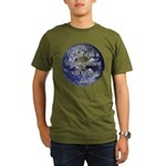 Living With Nature Quote Organic Men's T-Shirt (da