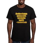 Gandhi Quote Men's Fitted T-Shirt (dark)
