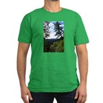 Eel River from the cliff Men's Fitted T-Shirt (dar