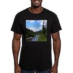 Scenic Eel River Men's Fitted T-Shirt (dark)