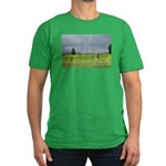 Mailbox and Field Scenic Men's Fitted T-Shirt (dar