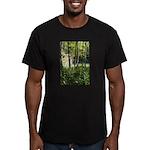 Eel River at Ravencliff Men's Fitted T-Shirt (dark