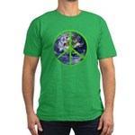 Earth Peace Symbol Men's Fitted T-Shirt (dark)