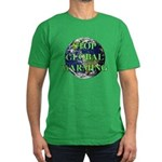Stop Global Warming Men's Fitted T-Shirt (dark)