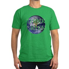 Think Green Earth Men's Fitted T-Shirt (dark)
