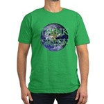Think Green Double Sided Men's Fitted T-Shirt (dar