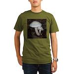 White Mushrooms Organic Men's T-Shirt (dark)