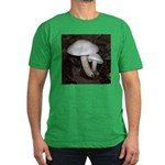 White Mushrooms Men's Fitted T-Shirt (dark)