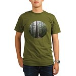 Redwood Forest Fog Organic Men's T-Shirt (dark)