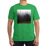 Misty Trees Men's Fitted T-Shirt (dark)