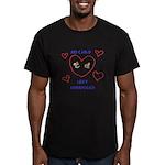 No Child Left Unhugged Men's Fitted T-Shirt (dark)