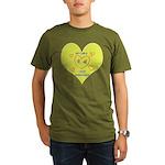 Hug your Kids Heart Organic Men's T-Shirt (dark)