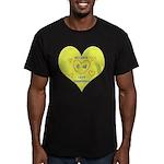 Hug your Kids Heart Men's Fitted T-Shirt (dark)