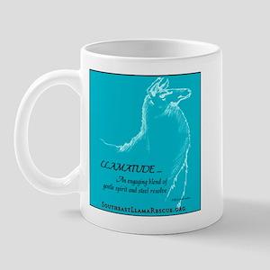 Llamatude Teal Mug