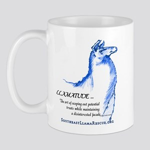 Llamatude Blue Mug