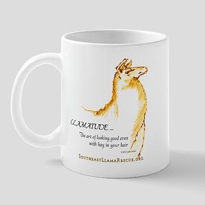 Llamatude Gold Mug