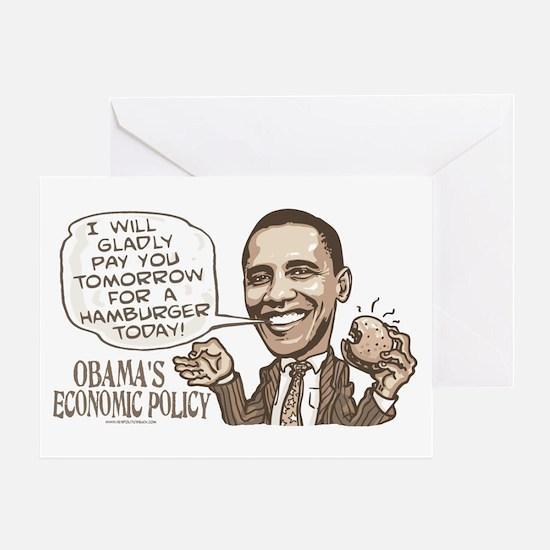Wimpy Obama Hamburger Greeting Card