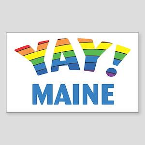 YAY! MAINE Rectangle Sticker