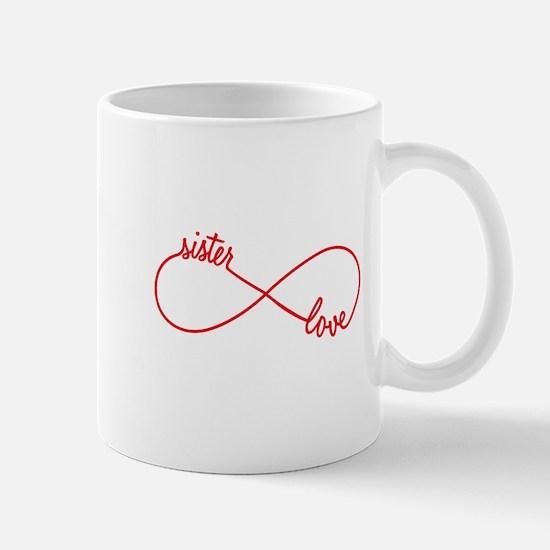 Sister love, infinity sign Mugs