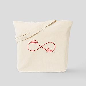 Sister love, infinity sign Tote Bag