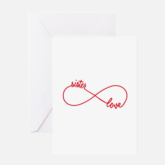 Sister love, infinity sign Greeting Cards