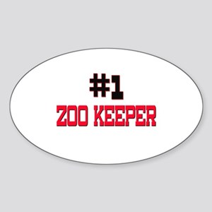 Number 1 ZOO KEEPER Oval Sticker
