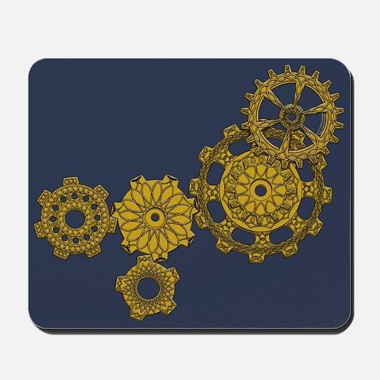 Woven Clockwork Mousepad