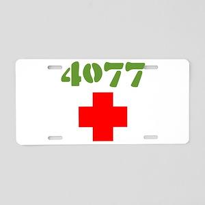 4077 Mash Aluminum License Plate