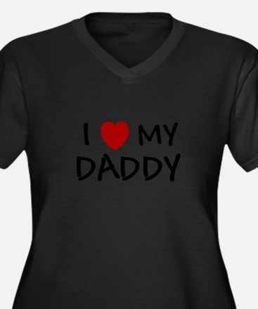 Cute I love my daddy Women's Plus Size V-Neck Dark T-Shirt