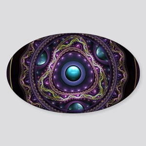Beautiful Turquoise and Amethyst Fractal J Sticker