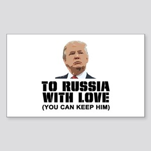 To Russia With Love Sticker (Rectangle)