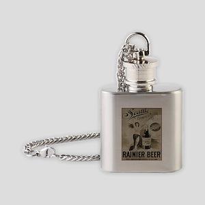 Rainier Beer Flask Necklace