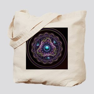 Beautiful Turquoise and Amethyst Fractal Tote Bag