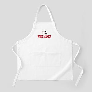 Number 1 WINE MAKER BBQ Apron