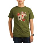 Kokopelli Gambler Organic Men's T-Shirt (dark)