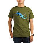 Malachite Blue Gecko Organic Men's T-Shirt (dark)