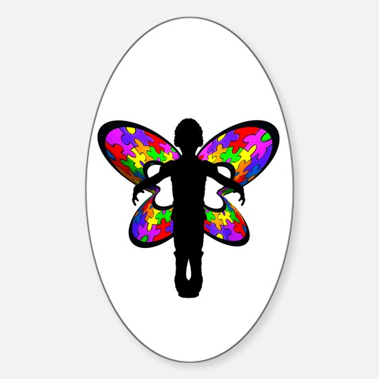 Autistic Butterfly Oval Stickers