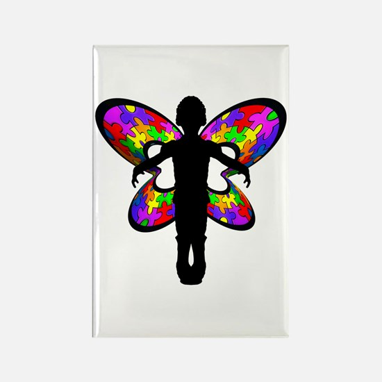 Autistic Butterfly Rectangle Magnet