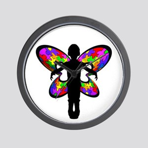 Autistic Butterfly Wall Clock