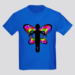 Autistic Butterfly Kids Dark T-Shirt