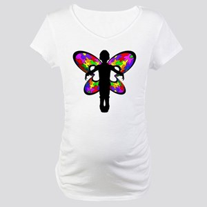 Autistic Butterfly Maternity T-Shirt