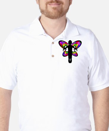 Autistic Butterfly Golf Shirt